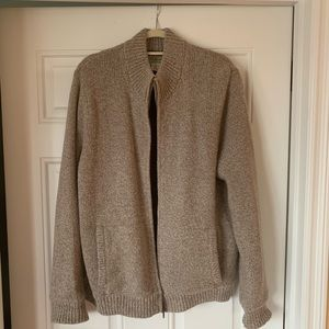 LL Bean Rag Wool ZIP Sweater